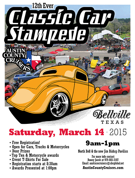 Austin County Cruisers Classic Car Stampeded 2015